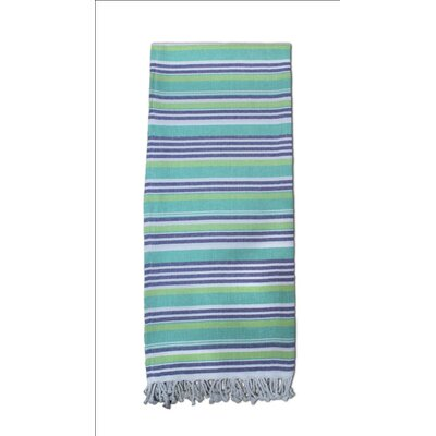 Striped Turkish Cotton Blend Bath Towel