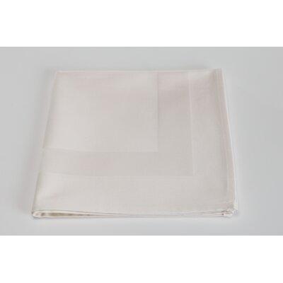 Orrville Satin Band Cotton Napkin (Set of 4) Color: Ivory