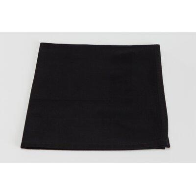 Orrville Satin Band Cotton Napkin (Set of 4) Color: Black