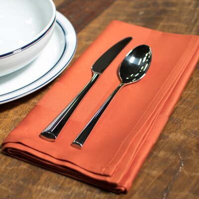 Orrville Satin Band Cotton Napkin (Set of 4) Color: Orange