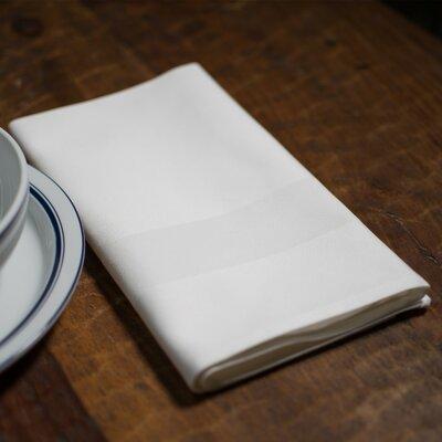 Orrville Satin Band Cotton Napkin (Set of 4) Color: White