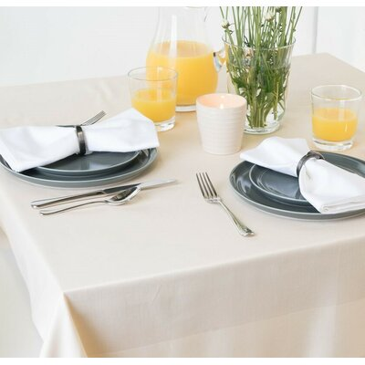 Orwell Satin Band Cotton Tablecloth Color: Ivory, Size: 0.2