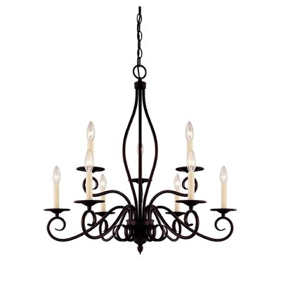 Bryce 9-Light Candle-Style Chandelier Finish: English Bronze