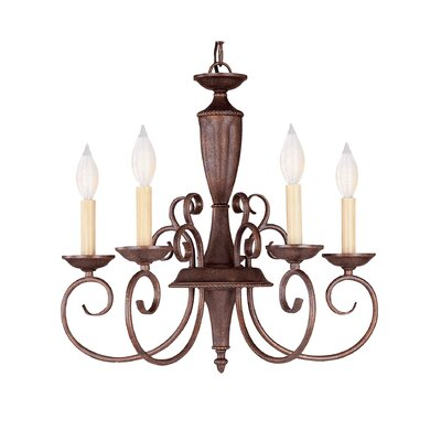 Ellett 5-Light Candle-Style Chandelier Finish: Walnut Patina