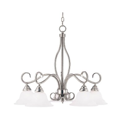 Hibbitts 5-Light Chain Shaded Chandelier