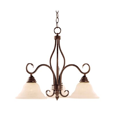 Ingles 3-Light Shaded Chandelier Finish: Sunset Bronze