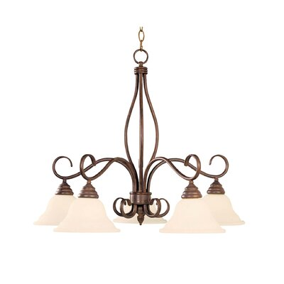 Bryce 5-Light Shaded Chandelier Finish: Sunset Bronze