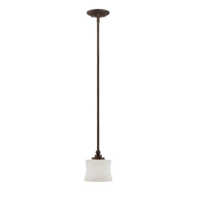 Ellerman 1-Light Mini Pendant Finish: English Bronze