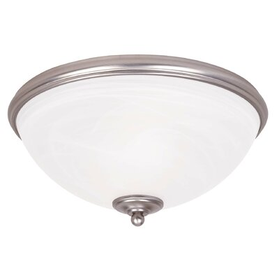 Willoughby 2-Light Flush Mount Finish: Pewter