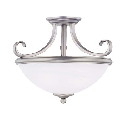 Nan 2-Light Semi Flush Mount Finish: Pewter