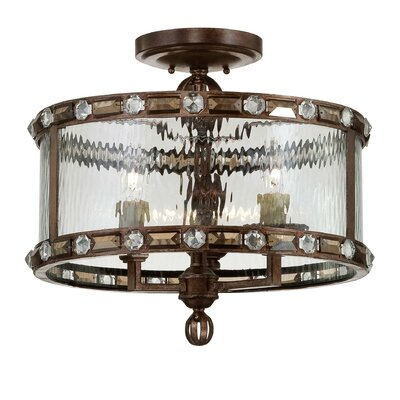 Manado 3-Light Semi Flush Mount