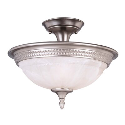 Eaton 2-Light Semi Flush Mount Size: 11 H x 15 W