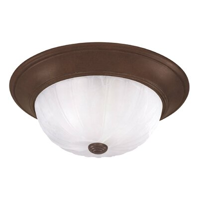 Linda 2-Light Flush Mount Finish: Brownstone