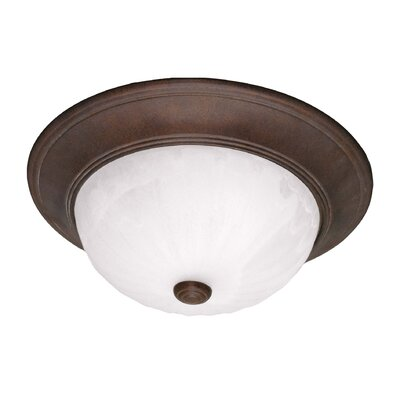 3-Light Flush Mount Finish: Brownstone