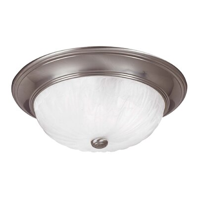 Llewellyn 3-Light Flush Mount Finish: Satin Nickel
