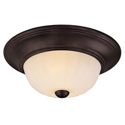 2-Light Flush Mount Finish: English Bronze
