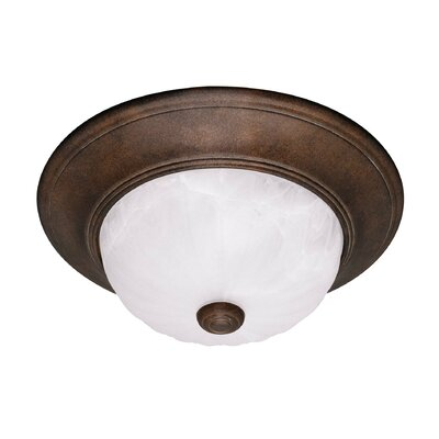 Polanco 2-Light Flush Mount Finish: Brownstone