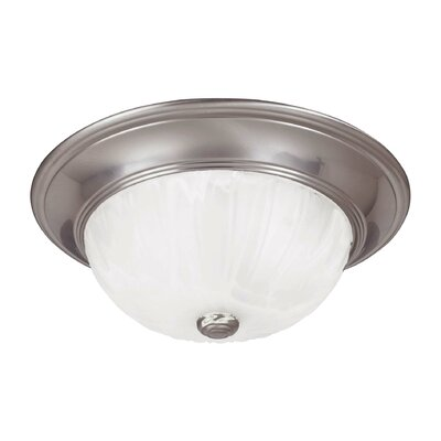 Polanco 2-Light Flush Mount Finish: Satin Nickel