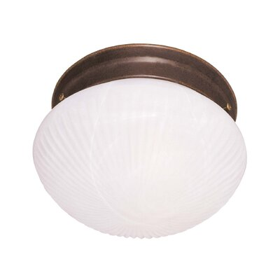 Voelker 1-Light Flush Mount Finish: Brownstone