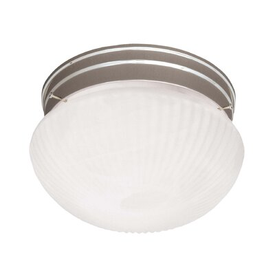 Voelker 1-Light Flush Mount Finish: Satin Nickel