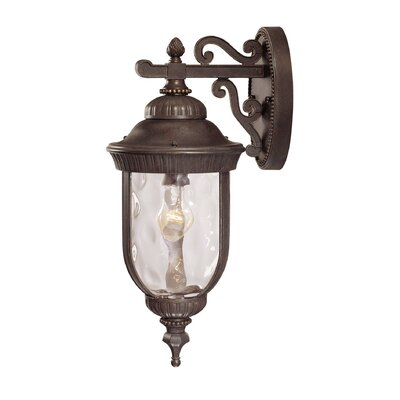 Brannon Walnut Outdoor Wall lantern Size: 16 H x 6.5 W