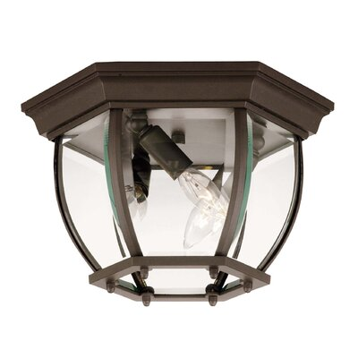 3-Light Flush Mount Finish: Bronze