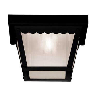 Daigle 1-Light Flush Mount Finish: Black