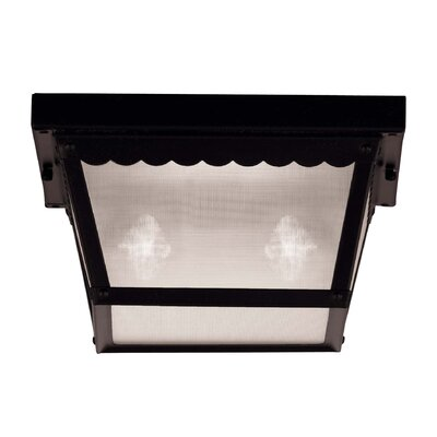 Exterior 2-Light Flush Mount