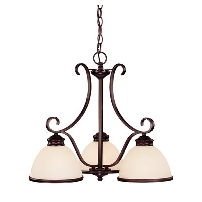Willoughby 3-Light Shaded Chandelier