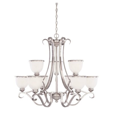 Nan 9-Light Shaded Chandelier