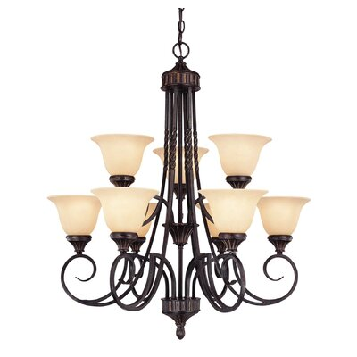 Legend 9-Light Shaded Chandelier