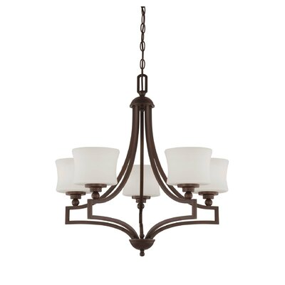 Ellerman 5-Light Shaded Chandelier Finish: English Bronze