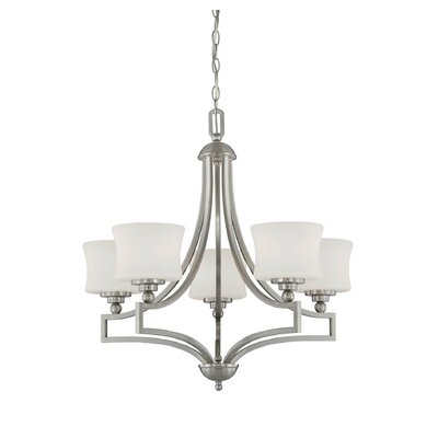 Ellerman 5-Light Shaded Chandelier Finish: Satin Nickel