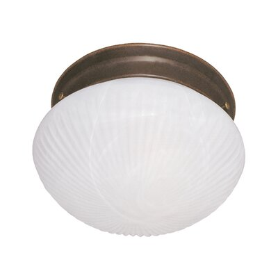 1-Light Flush Mount Finish: Brownstone