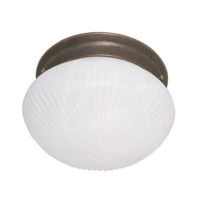 2-Light Flush Mount Finish: Brownstone