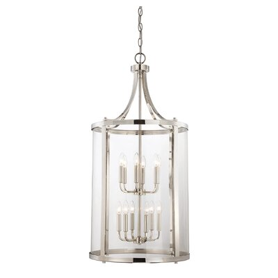 Cowhill 12-Light Foyer Pendant Finish: Polished Nickel