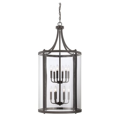 Cowhill 12-Light Foyer Pendant Finish: English Bronze