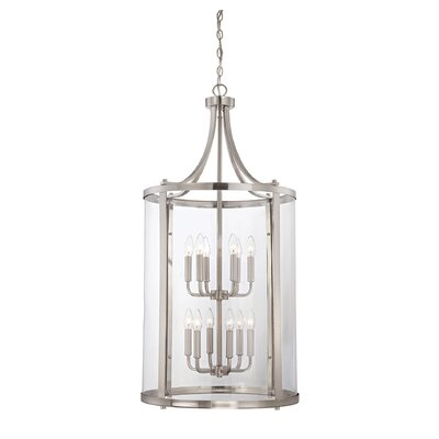 Penrose 12-Light Foyer Pendant Finish: Satin Nickel