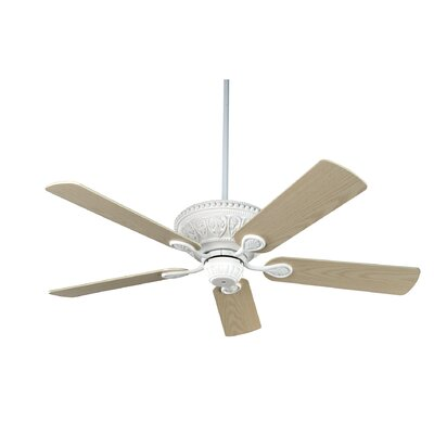 52 Yvonne  5-Blade Ceiling Fan Finish: Textured White