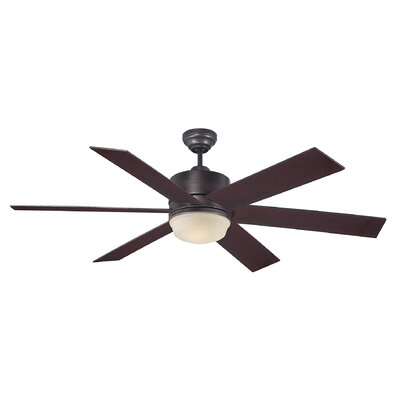 60 Ayleen 6-Blade Ceiling Fan Finish: English Bronze