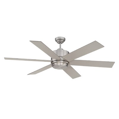 60 Velocity 6-Blade Ceiling Fan Finish: Satin Nickel