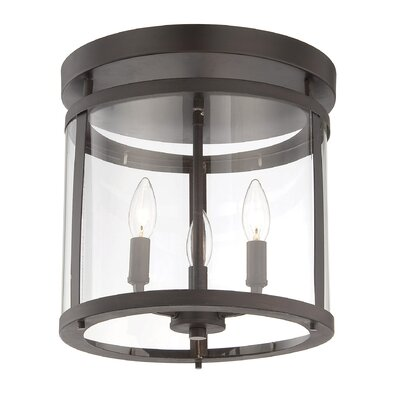 Aldergrove 3-Light Semi Flush Mount Finish: English Bronze