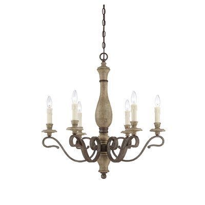 Rosa 6-Light Candle-Style Chandelier