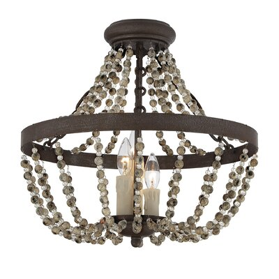 3-Light Convertible Semi-Flush Mount