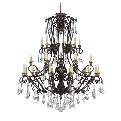 Mariposa 24-Light Crystal Chandelier