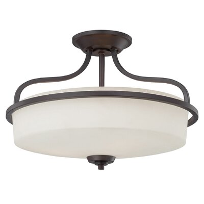Stewartstown Modern 3-Light Semi-Flush Mount