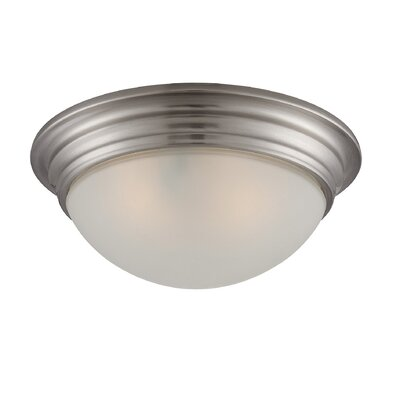 Bethalto 2-Light Flush Mount Size: 4.5 H x 11 W, Finish: Satin Nickel