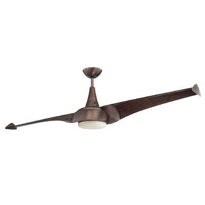 68 Ariel 2-Blade Ceiling Fan Finish: Byzantine Bronze