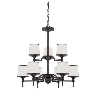 Camacho Modern 9-Light Shaded Chandelier