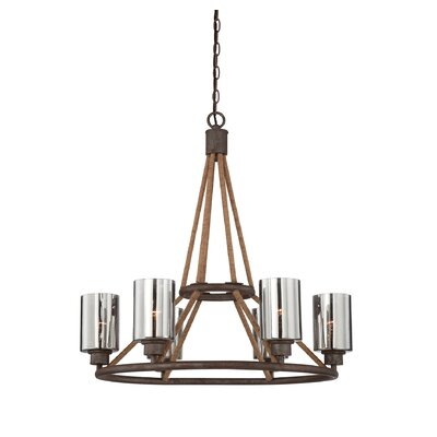 Maverick 6-Light Shaded Chandelier